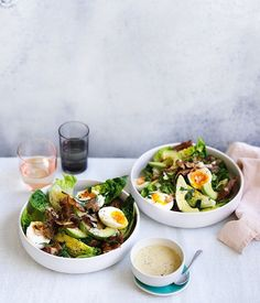 Bacon, egg and avocado salad recipe :: Gourmet Traveller I Love Food, Good Food, Yummy Food, Tasty, Healthy Snacks, Healthy Eating, Healthy Recipes, Avocado Salad Recipes, Food Inspiration