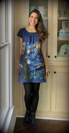 Art-inspired dresses by Nashville art teacher Cassie Stephens.