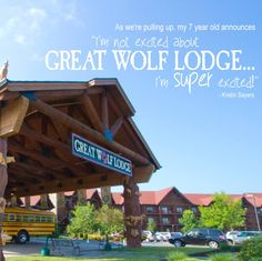 SUPER excited about #GreatWolfLodge