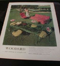 Perfect SISTERS ANTIQUES Catalog Of Vintage Patio Woodard 1948