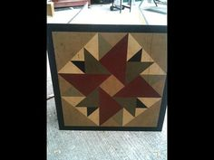 PriMiTiVe HandPainted Barn Quilt Framed 2' x 2' by CrowCorner, $65.00