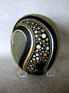 upscale painted rocks -- think of wonderful metallic markers