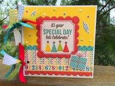 Love this new collection by We R Memory Keepers called Hip Hip Hooray! Mini Album by Traci Penrod