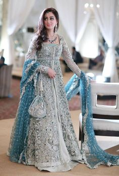 New Pakistani bridal dresses Collection in this post our celebrity dress design team is going to show you some latest and most beloved Pakistani bridal dresses bridal dr… Indian Bridal Lehenga, Indian Bridal Fashion, Pakistani Wedding Dresses, Indian Dresses, Indian Outfits, Pakistani Gowns, Lehenga Wedding, Latest Wedding Dresses Indian, Bridal Lehenga 2017