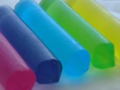 Homemade bath crayons. I must try this!