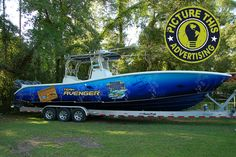 Here's a nice boat wrap by Picture This Ad. Material Used: 3M 180CV3 with 8518 laminate. www.picturethisad.com Boat Wraps, Fast Boats, Names Of Jesus, Boating, Amen, Monster Trucks, Nice, Ideas, Ships