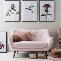This photo by @thedesignchaser  stunning prints @vissevasse and this sofa...  just amazing! #beautiful #pastels #design #lbloggers #interiorblogger by idontcrampmystyle