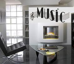 Music Words Musical Notes Vinyl Wall Art Decal Sticker