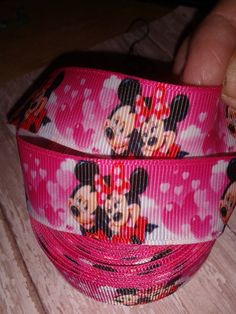Mickey and Minnie Hearts Grosgrain Ribbon by ILoveYouMoreCreation on Etsy