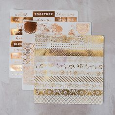 These adorable washi stickers are perfect for so many papercrafts: planners, agendas, mini-albums, and more. Printed on washi paper with a variety of foil finishes, they are light-weight, easy to use, and oh-so-beautiful. Style shown: 585334 #planners #foil #stickers