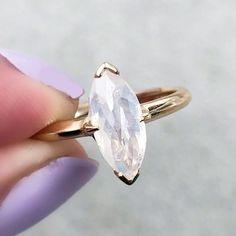 Fancy white diamond ring in yellow gold setting Buy Diamond Ring, White Diamond Ring, Diamond Jewelry, Real Gold Jewelry, Fine Jewelry, Gold Jewellery, Jewelry Rings, Alternative Wedding Rings, Alternative Bride