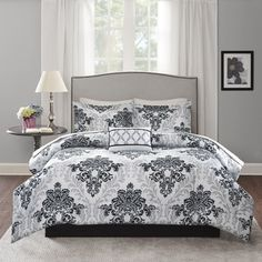 Shop for Madison Park Essentials Hayley Black/Grey Complete Bed Set-Sheet Set Included. Get free shipping at Overstock.com - Your Online Fashion Bedding Outlet Store! Get 5% in rewards with Club O!