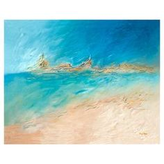 Perfect as an artful focal point or part of your gallery wall collage, this alluring canvas print showcases an abstract coastal motif.  Product: Canvas printConstruction Material: CanvasFeatures: Coastal motif
