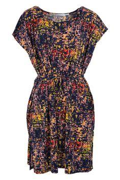 Ellis & Dewey : Picasso Print Drape Dress $89.95