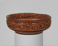 Western Han dynasty (206 B.C.–A.D. 9)  China: 2nd century B.C.  red and black lacquer  from the Met