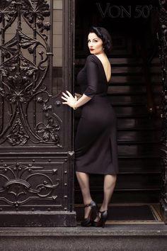 """von 50s Bel Avant Hier Dress"" Pic with & by Ava Elderwood"