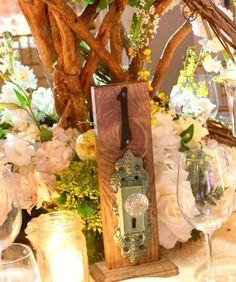 Door Knob Table Numbers  A set of 12 Rustic by SunshinePartyStudio, $299.00
