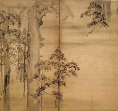 Cypress Trees  Ikeda Koson (Japanese, 1802–1867)