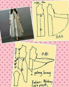 Similar to magic dress - Best Sewing Tips Sewing Hacks, Sewing Tutorials, Sewing Projects, Dress Sewing Patterns, Clothing Patterns, Linen Dress Pattern, Fashion Sewing, Diy Fashion, Sewing Clothes