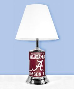 This Alabama Crimson Tide Fan Lamp is perfect! #zulilyfinds