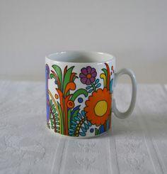 Mug Acapulco villeroy et Boch, vintage, porcelaine, china de la boutique atelierdelachoisille sur Etsy