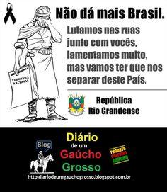Diário de um Gaúcho Grosso: CRISE BRASILEIRA... O SUL É MEU PAÍS