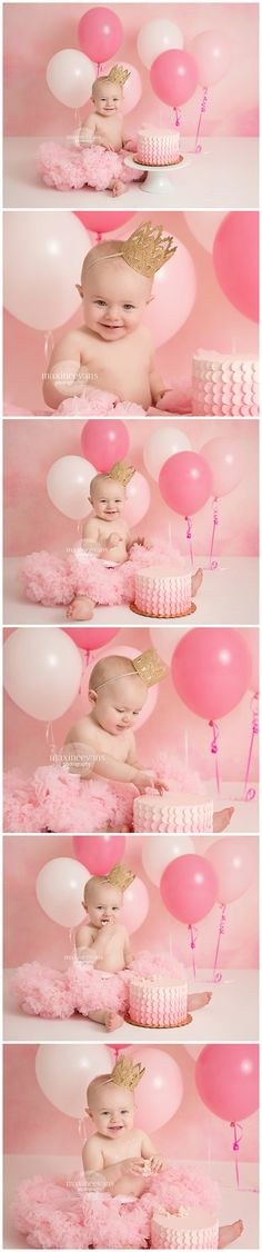 Baby Photography Santa Monica – Harper Los Angeles Newborn Photographer – Maxine Evans Photography Cake Smash – One Year Old … One Year Birthday, Baby Girl 1st Birthday, Birthday Cake Smash, Birthday Sweets, Birthday Ideas, Birthday Quotes, Birthday Gifts, Birthday Photography, Balloons Photography