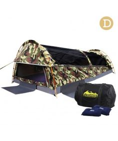 Double Camping Swag - Camouflage Green