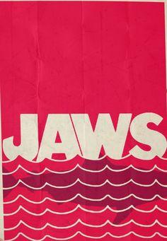 Jaws (1977) ~ Minimal Movie Poster by Rory Adams #amusementphile