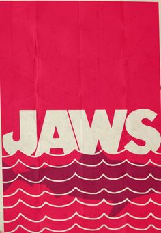 Jaws (1977) ~ Minimal Movie Poster by Rory Adams #amusementphile
