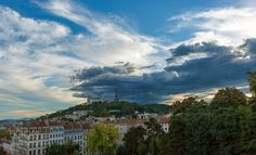 Sunset on the Fourvière hill (Lyon) by pwaab. Please Like http://fb.me/go4photos and Follow @go4fotos Thank You. :-)