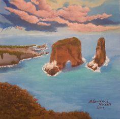 Painting by l'orientaliste (United Kingdom) Love Bridge, Beirut Lebanon, Canvas Board, Pigeon, Art Paintings, Middle East, Acrylics, Buy Art, Original Art