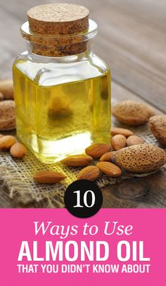 10 Ways to Use Almond Oil that You Didn't Know About Essential Oil Carrier Oils, Essential Oil Uses, Healing Herbs, Natural Healing, Herbal Remedies, Natural Remedies, Sweet Almond Oil, Almond Oil Uses, Face Cream For Wrinkles