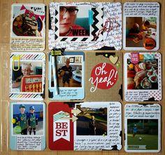 Andrine og Marens Landhandleri - Blog - Everyday page by Dt Linda. Project Life, Scrap, Baseball Cards, Pocket, Projects, Blog, Log Projects, Blue Prints, Blogging
