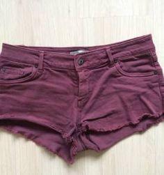 short burgundy