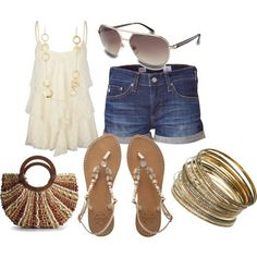 Glammy summer outfit..