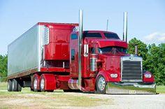 Red Kenworth semi truck***                                                                                                                                                                                 Más