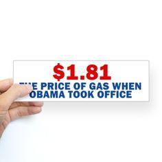 Anti Obama Bumper Sticker on CafePress.com