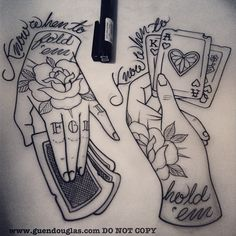 Pair of little #hands for tomorrow :) #thegambler #cards #gambler #tattoo…