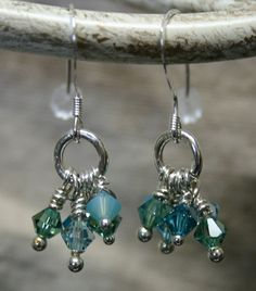 Dainty swarovski crystal earrings. $15.00, via Etsy.