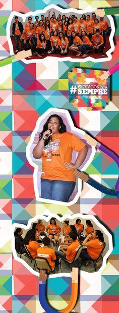 O Circuito de Juventude 2013 também contou com a energia do time Criatividade!  A jovem Caroline Fernandes da Silva, da EE Líbero de Almeida Silvares (DE Fernandópolis), foi escolhida para representar toda a galera do time no encerramento mandando um super recado para a galera.