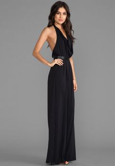 Love this: Alice Olivia Danyl Open Back Disco Jumpsuit with Leather Waistband in Black @Lyst