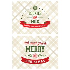 Santa's Milk and Cookies Christmas Party Printables by I Heart to Party