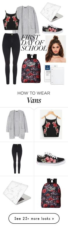 """024 Black Floral"" by luna-themoon on Polyvore featuring Missguided, MANGO, Vans and Recover"