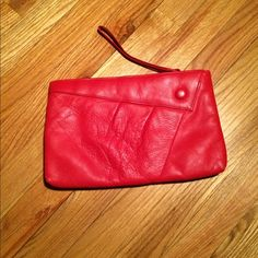 vintage 80's cherry red leather clutch awesome, cherry red leather clutch seeks a new home. red is the color of strong emotions, both energizing love and debilitating hate, at once! how can that be? this adorable little bag must be of the former emotion because i have never once disliked the charming thing! but, i am tired and old and i do not go out as much as i used to do, so i find myself all dressed up with none of that energy to go. so, grab your young self this merry bag and get going…