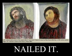 Amateur Restoration Botches Jesus Fresco in Spain. Ya think?