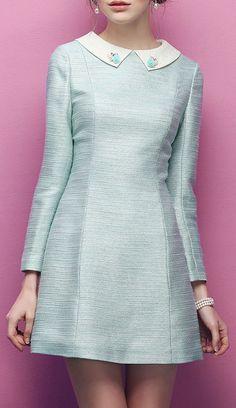 Inspiration for a Francoise dress - embellished collar