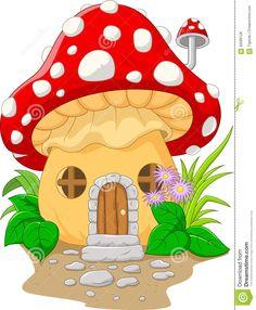 Illustration about Illustration of Cartoon mushroom house. Illustration of spring, flora, plant - 56089128 Mushroom Crafts, Mushroom Art, Art Drawings For Kids, Easy Drawings, House Drawing For Kids, Cartoon Mushroom, Mushroom Drawing, Mushroom House, Art Wall Kids