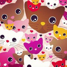 #pussy #cat #kitten #pattern #surfacepattern #design #art #print #cats #cute ... - littlesmilemakers @ Instagram Web Interface - 5th village