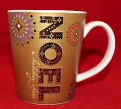 Starbucks Christmas Holiday Noel Cheer Gold Coffee Mug Cup 2006 Snowflakes Starbucks Christmas, Starbucks Mugs, Christmas Holidays, Mug Cup, Snowflakes, Coffee Mugs, Invitations, Tableware, Cheer